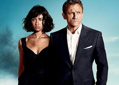 Quantum of Solace, James Bond, Olga Kurylenko, actors, Daniel Craig, movie posters - random desktop wallpaper