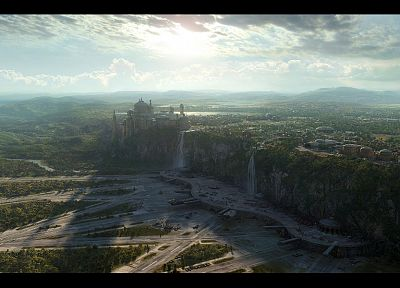 Star Wars, fantasy, landscapes, Naboo, realistic, Theed - random desktop wallpaper