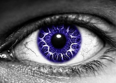 eyes, purple, selective coloring - related desktop wallpaper