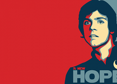 Star Wars, hope, Luke Skywalker, parody, simple background - desktop wallpaper