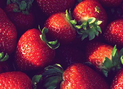 close-up, nature, summer, strawberries - random desktop wallpaper
