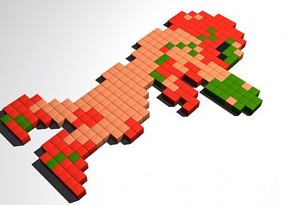 Metroid, video games, Samus Aran, pixel art - desktop wallpaper