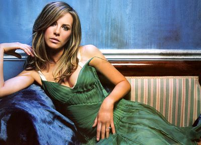 women, models, Kate Beckinsale, green dress - related desktop wallpaper