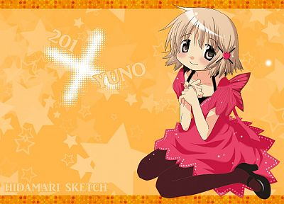 short hair, Hidamari Sketch, anime girls, Yuno - desktop wallpaper