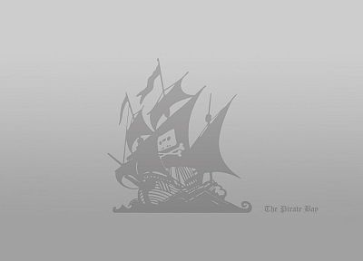 minimalistic, The Pirate Bay, grey - random desktop wallpaper