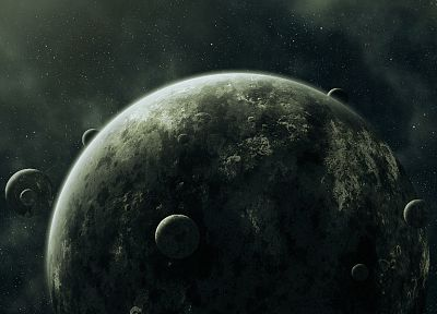 outer space, stars, planets, digital art - related desktop wallpaper