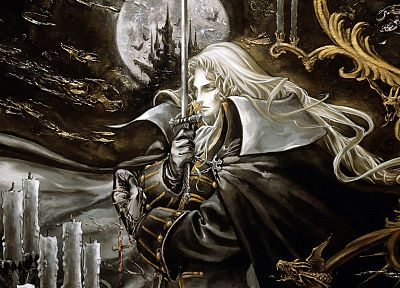 Alucard, fantasy art, Castlevania, artwork - random desktop wallpaper