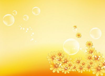 abstract, nature, flowers, yellow - random desktop wallpaper