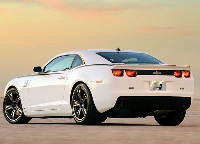white, cars, Chevrolet Camaro, Hurst - random desktop wallpaper