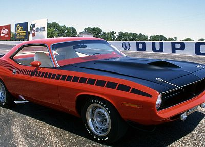 cars, Plymouth Barracuda - random desktop wallpaper