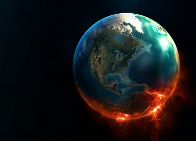 fire, Earth - random desktop wallpaper