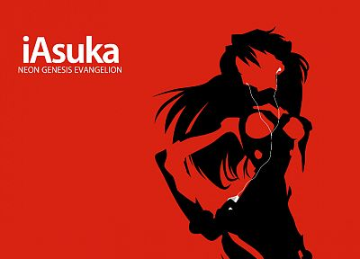 iPod, Neon Genesis Evangelion, Asuka Langley Soryu, simple background - desktop wallpaper
