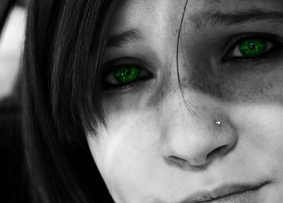 eyes, selective coloring - random desktop wallpaper