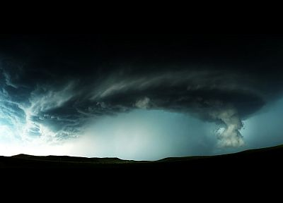 clouds, storm, Supercell - random desktop wallpaper