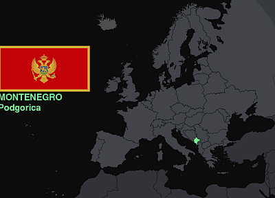 flags, Europe, maps, knowledge, countries, useful, Montenegro - random desktop wallpaper