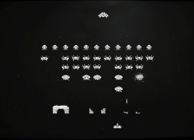 Space Invaders, retro games - related desktop wallpaper