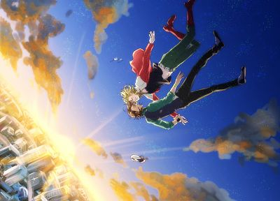 artwork, anime boys, Tiger And Bunny, falling, shounen-ai - random desktop wallpaper