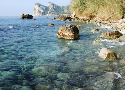 water, blue, landscapes, nature, stones, Italy, sea - desktop wallpaper
