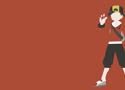 Pokemon, minimalistic, red, vectors, simple background - desktop wallpaper