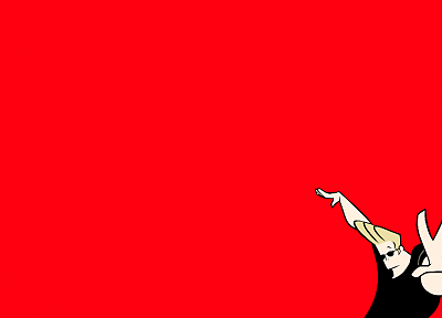 red, Johnny Bravo, simple background, red background - random desktop wallpaper