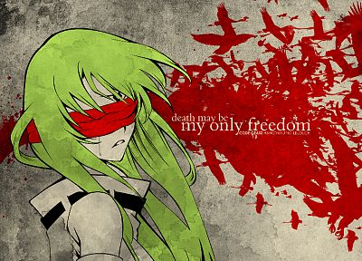 Code Geass, blindfolds, green hair, C.C., anime, anime girls - related desktop wallpaper