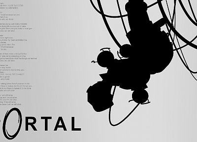 Portal, GLaDOS - related desktop wallpaper
