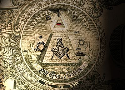 money, illuminati, New World Order - random desktop wallpaper
