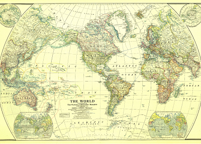 National Geographic, world map - desktop wallpaper