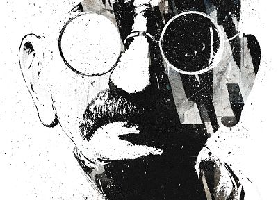 artistic, grunge, Gandhi, Alex Cherry - related desktop wallpaper
