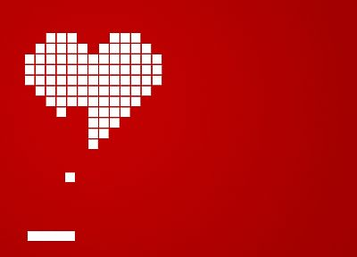 love, bricks, breakout, hearts, simple background - desktop wallpaper