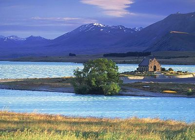 islands, shepherd, churches, New Zealand, south - related desktop wallpaper