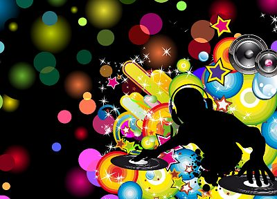 abstract, music, multicolor, DJ - related desktop wallpaper