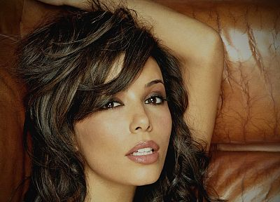 brunettes, women, close-up, actress, Eva Longoria, faces - desktop wallpaper