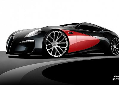 Bugatti, concept art - random desktop wallpaper