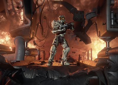 video games, Master Chief, artwork, Halo 4 - random desktop wallpaper