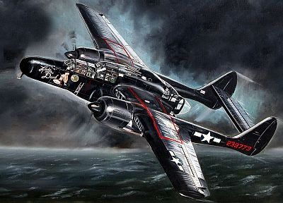 aircraft, military, World War II, P-61 Black Widow - related desktop wallpaper