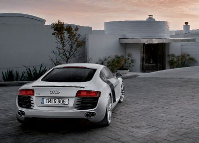 cars, Audi R8, white cars, German cars - random desktop wallpaper