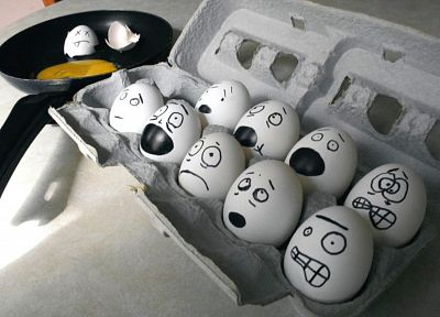 eggs, food, groups, kitchen, animation, murder, satire, drawings, emoticons, fun, fried eggs - related desktop wallpaper