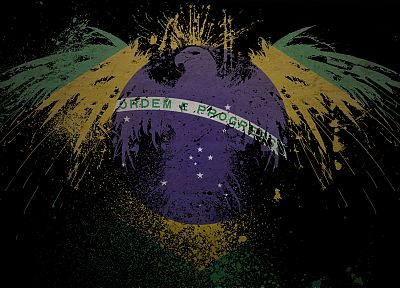eagles, flags, Brazil - related desktop wallpaper