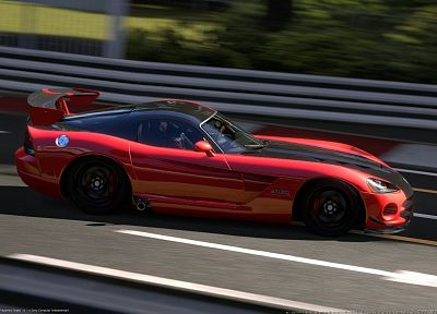 video games, 3D, Gran Turismo 5, Dodge Viper SRT-10 ACR - random desktop wallpaper