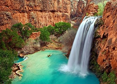 water, nature, USA, Arizona, Australia, waterfalls - desktop wallpaper