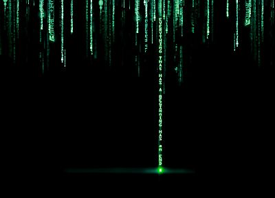 Matrix, code - related desktop wallpaper