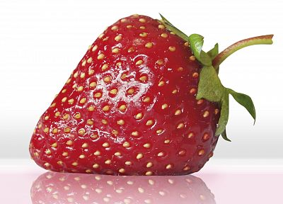fruits, food, strawberries, white background - related desktop wallpaper