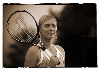 sports, models, Maria Sharapova, tennis players - desktop wallpaper