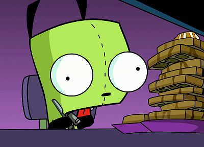Invader Zim, waffles, Gir - desktop wallpaper