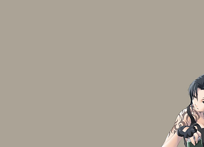 smoking, Black Lagoon, Revy, simplistic, simple background - desktop wallpaper