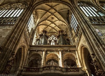 architecture, churches, organ, HDR photography - related desktop wallpaper