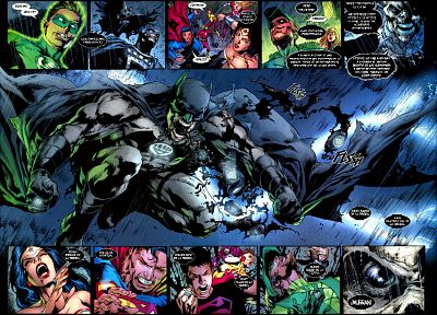 Green Lantern, Batman, DC Comics, Superman, Blackest Night, Wonder Woman - random desktop wallpaper