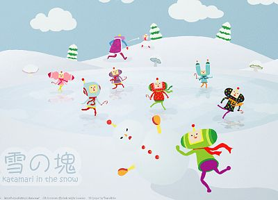 winter, snow, Katamari Damacy - desktop wallpaper
