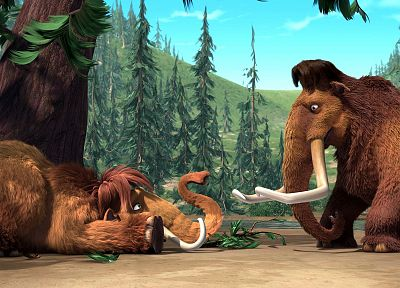 Ice Age, mammoth - desktop wallpaper